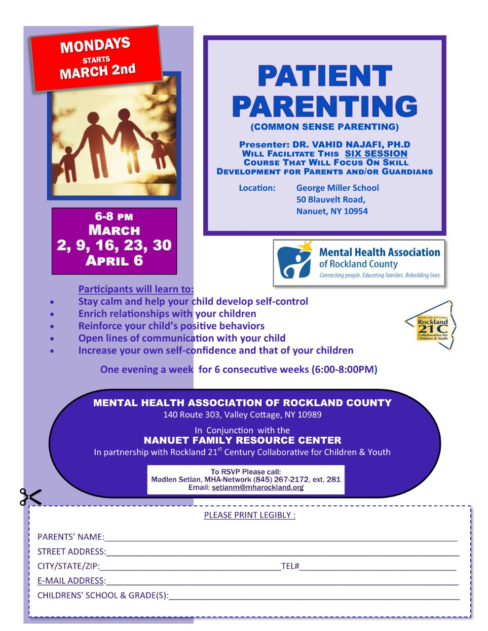 Patient Parenting Starting March 2nd